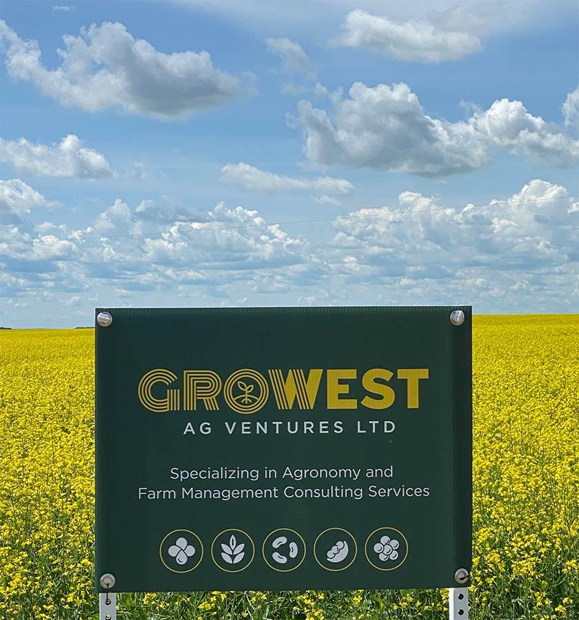 GroWest Ag Ventures Ltd. Sign